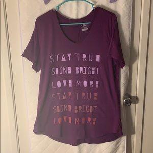 TEK GEAR Purple workout shirt